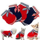 Pet Dog Warm Jumper Sweater Clothes Puppy Kitten Knitwear Knitted Coat Red Blue