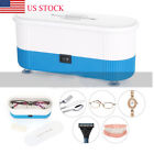 Ultrasonic Jewelry Cleaner Denture Eye Glasses Coins Silver Cleaning Machine US