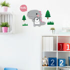 Lovely Cartoon Animal Mute 3D Wall Clock for Kid's Bedroom Playroom