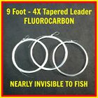 9 ft-4X Fly Fishing FLUOROCARBON TAPERED LEADER (Package of 3) mails fast USA