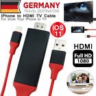2m HD Lightning Dock + USB auf HDMI AV HDTV TV Kabel für iPhone / iPad 1080p