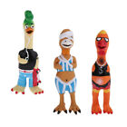 Shrilling Chicken Pet Dog Screaming Squawking Fun Chewing Toy Latex