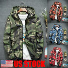 US Mens Winter Slim Fit Hoodie Hooded Zip Sweatshirt Coat Jacket Outwear Sweater