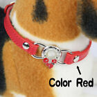 Pet Dog Collar Adjustable Leather Neck Strap for Large Medium Small Dog Lot XS-L
