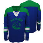 NHL Vancouver Canucks Perennial Long Sleeve Crew Jersey Shirt Top Youth Kids $29.36 USD on eBay