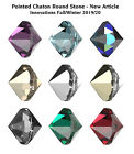 NEW Genuine SWAROVSKI 1185 Pointed Chaton Round Unfoiled Crystals * Many Colors
