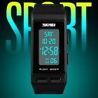 SKMEI Men Women Sports Wrist Watch Alarm Chronograph Waterproof USA New Hot image