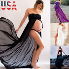 US Pregnant Women Lace Dress Maternity Maxi Gown Dress Photography Props 3 Color