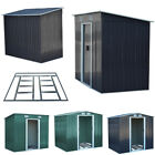 Large Metal Shed Garden Heavy Duty Galvanised Steel Apex Storage Room with Base