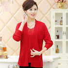 New Spring Summer Fashion Temperament Thin Knitting Sweater Two-piece T-shirt