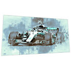Mercedes Formula 1 Wall Art - Racing car Graphic Art Poster