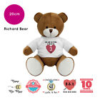 Personalised Name Richard Teddy Bear Anniversary Valentines Present Gift Gifts