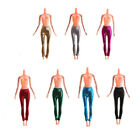 Elastic Candy Color Leather Bottom Pants For Barbie Doll Clothes Trousers IUUK