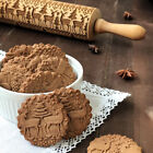 Внешний вид - Christmas Embossing Rolling Pin Engraved Rolling Pin Wooden Embossed Rolling Pin