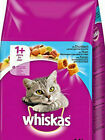 WHISKAS 1+ ADULT TUNA - 825g 2kg or 3.8kg Complete Dry Cat Food bp Biscuits Meal
