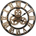 Vintage Clock European Handmade 3D Decorative Gear Wooden Vintage Wall Clock