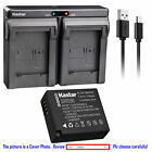 DMW-BLE9 Battery or Dual Charger for Panasonic Lumix DMC-TZ81 DMC-TZ85 DMC-TX1