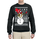 Dabbing Snowman Funny Ugly Christmas Sweater Graphic Holiday Humor Sweatshirt