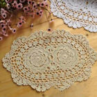 Внешний вид - Dining Crochet Doilies Natural Handmade Tea Wedding Party Pad Floral Vintage