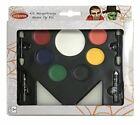 Kinderschminke Halloween Make up Sets: Vampir Vampirblut Zähne Skelett Hexe