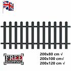 Rustic WPC Picket Fence Sturdy Flower Border Grey Multi Models Garden Deocor Hot