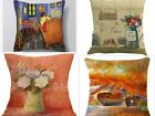 NEW Begin of Provence Pillows  Arles Covered Bridge Paris Linen Home Decor Art
