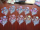 Tattered Lace Die Cuts FLOURISHING FLOWERS Cornflowers 10 colours 1 of each