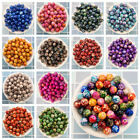 NEW 50PCS 8mm Double Color Acrylic Round Pearl Loose Beads Jewelry Making