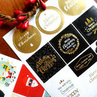2 Sheets Christmas Envelope Seal Sticker Gift Label Stickers Decoration