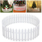 50pcs Picket Fence Garden Fencing Lawn Edging Home Yard Christmas Tree Fence Uk