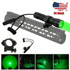 Tactical Red Green Hog Coyote Hunting LED Flashlight Light Fox / Mount