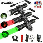 Vastfire Red or Green Hog Coyote Fox Rifle Mount Hunting LED Flashlight Light