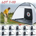 Foldable Golf Practice Driving Chipping Hitting Net System Aid Training Cage LOT
