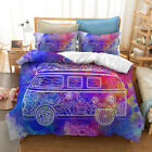 Single Double Twin Full Queen King Bed Pillowcase Quilt Cover Oaur Colorful Car