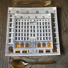 Fornasetti Architettura Square Plates Golden Gilt Detail Home Decoration Dining