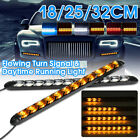 2 Switchback LED Sequential Flow Turn Signal Indicator DRL Daytime Running Light