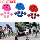 7pcs Skating Protective Gear Sets Elbow Knee Pads Bike Skateboard For Adult Kid