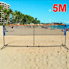 Foldable Portable 4/5M Badminton Net Volleyball Tennis Nets With Frame Stand UKE
