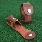 """Leather Clip On Golf Ball Holder Pouch Bag Hold 2 Balls Golfer Aid 4.13 x 1.96"""""""