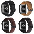 Genuine Leather Wax Oil Skin band bracelet for Apple Watch Series 4/3/2 Men/Wome