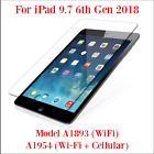 Premium Tempered Glass Screen Protector iPad 6th 2018 Model A1954 Other Models