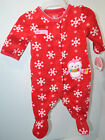 Child of Mine Carter's Christmas Cute and Cozy Red Fleece Sleep and Play Winter
