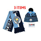 Manchester City Scarf and Beanie Official Authentic Licensed 3 items style 2