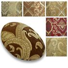 Flat Round Shape Cover*Damask Chenille Floor Seat Chair Cushion Case Custom*Wk4