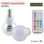 E27 Led Bulb Lights 5W RGB White Dimmable  lampadine Lights+IR Remote Controller