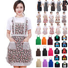 New Women Men Apron Dress Kitchen Cooking Restaurant BBQ Chef Pocket Bib Aprons