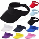 MEN WOMEN SUN VISOR COTTON SPORTS GOLF TENNIS HEADBAND ADJUSTABLE CAP HAT