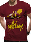 Shazam Logo Pose Official Captain Marvel DC Comics Red Mens T-shirt