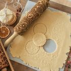 New Flower / Elk / Snowflake Christmas Rolling Pin Engraved Rolling Pin Embossed
