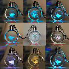 KPOP BTS Boys Colorful Crystal Rose LED Light Fairy Love Heart Key Chain Pendant